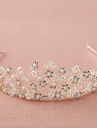cheap -Crystal Rhinestone Tiaras Headbands with Scattered Bead Floral Motif Style Crystal Detailing 1pc Wedding Birthday Headpiece