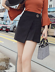 cheap -Women's Work Daily Above Knee Skirts A Line Solid Fall Winter