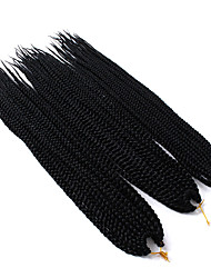 "cheap -Crochet Hair Braids 3 Pieces Hair Braid Box Braids 24"" African Braids Ombre Braiding Hair Synthetic Hair Black/Purple Black/Blue"