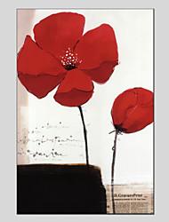 Недорогие -Ручная роспись Цветочные мотивы/ботанический Прочее 1 панель Холст Hang-роспись маслом For Украшение дома