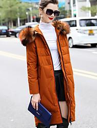 Dámské Dlouhé Dlouhý kabát Jednoduchý Wear to work Běžné/Denní Jednobarevné-Kabát Polyester Dlouhý rukáv