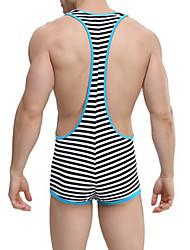 Men's Striped Long Johns