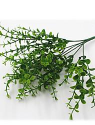 cheap -32cm 4 Pcs 49 leave/branch Eucalyptus Green Grass Home Decoration Artificial Flowers
