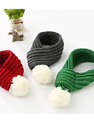 economico -Cane Sciarpa per cani Abbigliamento per cani Caldo Casual Formale Grigio Rosso Verde Costume Per animali domestici
