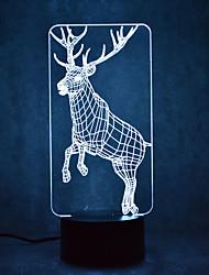 Недорогие -1шт 3D ночной свет Сенсорный 7-Color С портом USB
