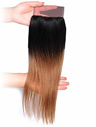 cheap -Brazilian Hair Straight Remy Human Hair Natural Color Hair Weaves Human Hair Weaves Black / Medium Auburn Human Hair Extensions
