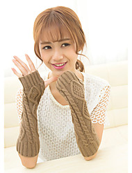cheap -Women's Elbow Length Half Finger Gloves - Solid Colored
