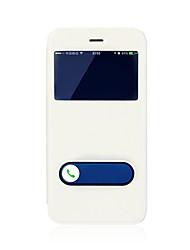 Недорогие -Кейс для Назначение Apple iPhone 8 / iPhone 8 Plus со стендом / с окошком / Флип Чехол Однотонный Твердый Кожа PU для iPhone 8 Pluss / iPhone 8 / iPhone 7 Plus