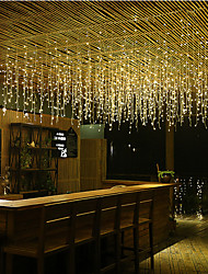 cheap -4m String Lights 96 LEDs Dip Led Warm White / Cold White / Blue Linkable 110-120 V 1pc / IP44