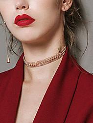 abordables -Femme Cool Collier court / Ras-du-cou  -  Rétro Mode Or Colliers Tendance Pour Bar Soirée