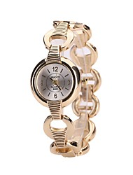 cheap -Women's Dress Watch Bracelet Watch Wrist watch Chinese Quartz Alloy Band Luxury Casual Bangle Silver Gold