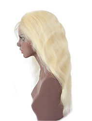 cheap -Women Human Hair Lace Wig Brazilian Remy Glueless Full Lace 130% Density Body Wave Wig Light Blonde Short Medium Length Long Natural