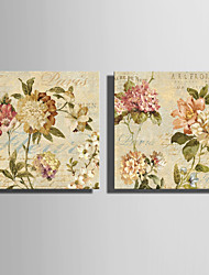 cheap -Canvas Set Florals Modern,Two Panels Canvas Horizontal Print Wall Decor For Home Decoration