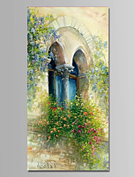cheap -Hand-Painted Landscape Vertical,Modern One Panel Canvas Oil Painting For Home Decoration