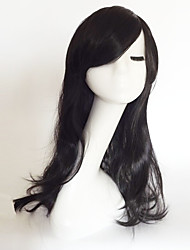 cheap -Synthetic Wig Curly / Natural Wave Asymmetrical Haircut / With Bangs Synthetic Hair Natural Hairline Black Wig Women's Medium Length / Long Capless Blue