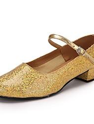 "cheap -Women's Modern Paillette Heel Performance Paillette Customized Heel Gold 1"" - 1 3/4"" Customizable"
