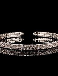 abordables -Femme Zircon Manchettes Bracelets - Argent Rétro, Elégant Bracelet Argent Pour Mariage / Soirée