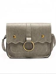 cheap -Women Bags PU Crossbody Bag Buttons for Casual All Season Black Blushing Pink Gray Brown Dark Brown