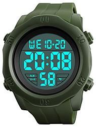 Недорогие -SKMEI Муж. Спортивные часы / Армейские часы / Наручные часы Китайский Календарь / Секундомер / Защита от влаги силиконовый Группа Винтаж / На каждый день Черный / Зеленый / Фосфоресцирующий
