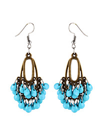 cheap -Women's Drop Earrings - Resin Leaf Simple, Vintage Purple / Red / Light Blue For Daily / 2pcs