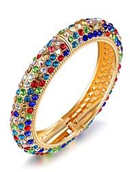 Недорогие -Жен. Браслет цельное кольцо Стразы Стразы Титановая сталь Бижутерия Назначение Свадьба Для вечеринок