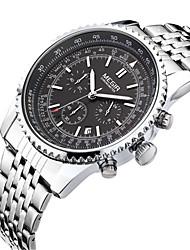 MEGIR Homens Relógio Casual Relógio de Moda Relógio Elegante Relógio de Pulso Quartzo Calendário Aço Inoxidável Banda Casual Legal