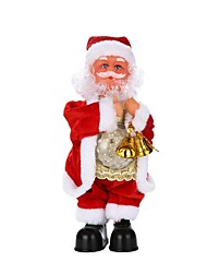 Недорогие -Новогодние подарки Рождественские игрушки Игрушки Костюмы Санта Клауса Праздник Классика Отпуск Мягкие пластиковые Плетеная ткань Детские