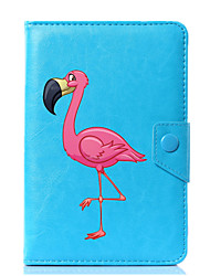 capa de capa de couro padrão de couro de flamingo de desenho universal para 7 polegadas 8 polegadas 9 polegadas 10 polegadas tablet pc