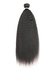 cheap -Indian Hair kinky Straight Remy Human Hair Natural Color Hair Weaves 3 Bundles Human Hair Weaves Natural Black Human Hair Extensions