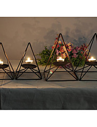 Simple Modern Iron Art Home Decoration Fashionable Black Restaurant Candle Holder