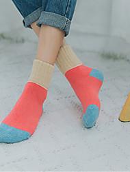 Women's Hosiery Ultra Warm Socks,Wool Multi Color 2pcs Khaki Blushing Pink