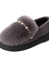Damer Sko PU Sommer Komfort Sandaler Lave hæle Til Hvid Sort Grå Gul