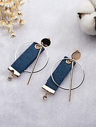 cheap -Women's Drop Earrings Hoop Earrings Vintage Casual Sweet Fashion Korean Cloth Alloy Geometric Jewelry For Bar Club