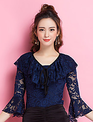 cheap -Ballroom Dance Tops Women's Performance Lace Lace 3/4 Length Sleeve Tops