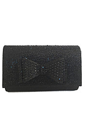 cheap -Women Bags PVC Satin Clutch Bow(s) for Event/Party All Season Gold Black Silver