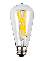 cheap -9W E26/E27 LED Filament Bulbs ST64 12 leds COB Warm White 1100lm 2700K AC 220-240V