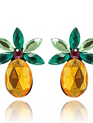 cheap -Women's Stud Earrings Crystal Fruit Sweet Lovely Crystal Alloy Pineapple Jewelry For Daily Going out