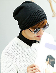 Men's Sweater Floppy Hat,Casual Solid Winter Knitted