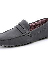 preiswerte -Herren Schuhe Wildleder Frühling Herbst Komfort Loafers & Slip-Ons Für Normal Schwarz Dunkelblau Grau Braun