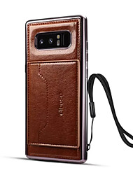 cheap -Case For Samsung Galaxy Note 8 Card Holder / with Stand Back Cover Solid Colored Hard PU Leather for Note 8