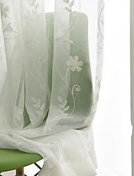 Недорогие -Экологичные Занавески Оттенки В помещении 2*(W183cm×L213cm) / Вышивка / Спальня