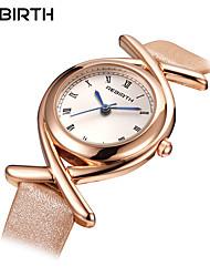 Mujer Reloj Casual Reloj de Moda Reloj de Pulsera Chino Cuarzo Resistente al Agua Piel Banda Casual Elegant Minimalista Negro Blanco Azul