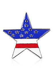 Жен. Броши Простой Сплав Флаг Бижутерия Назначение Повседневные Официальные