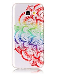 cheap -Case For Samsung Galaxy A5(2017) / A3(2017) Ultra-thin / Transparent / Embossed Back Cover Mandala Soft TPU for A3(2017) / A5(2017)