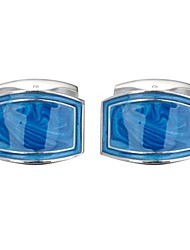cheap -Geometric Blue Cufflinks Copper Romantic Men's Costume Jewelry For Date
