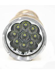 Недорогие -ANOWL 6231 Светодиодные фонари Светодиодная лампа Cree® XM-L T6 9 излучатели 6300 lm 5 Режим освещения Портативные Простота транспортировки