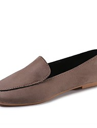 cheap -Women's Shoes Rubber Winter Comfort Flats Flat Heel Round Toe for Outdoor Gray Yellow Coffee Brown Burgundy