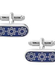 cheap -Flower Blue Cufflinks Copper Romantic New Year Men's Costume Jewelry