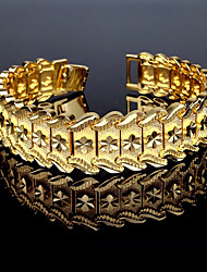 cheap -Men's Cuff Bracelet Bracelet Metallic Vintage Copper Gold Plated Round Jewelry Gift Casual Costume Jewelry