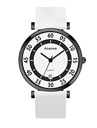 preiswerte -Herrn Modeuhr Japanisch Armbanduhren für den Alltag Echtes Leder Band Charme Schwarz / Weiß